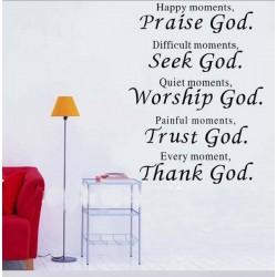 Dekoratívne nálepky na stenu - PRAISE GOD