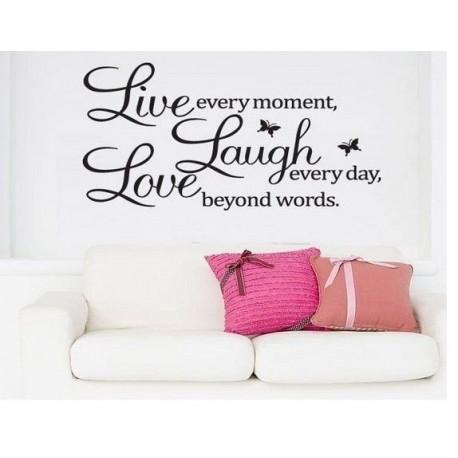 DR Dekoratívne nálepky na stenu - LIVE LAUGH LOVE, 60x40 cm
