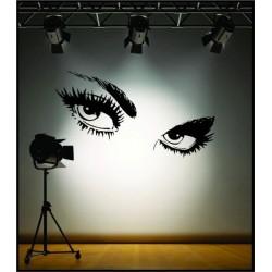 Dekoratívne nálepky na stenu - oči Audrey Hepburn, 60x50cm