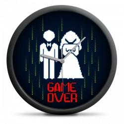 Nástenné hodiny - Game Over 30cm