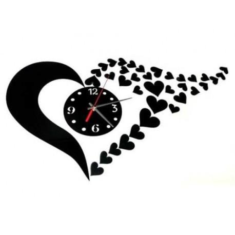Nástenné samolepiace hodiny v tvare srdca