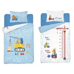 Posteľné obliečky pre deti Let's go work 100x135