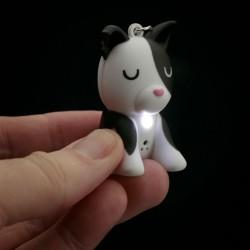 LED kľúčenka psík so zvukom