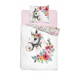 Bavlnené posteľné obliečky 140x200 - Kôň