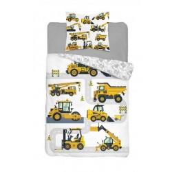 Bavlnené posteľné obliečky 140x200 - Stavebné stroje
