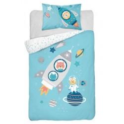 Bavlnené posteľné obliečky pre deti 100x135 - Raketa