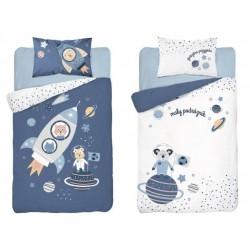Bavlnené posteľné obliečky pre deti 90x120 - Raketa
