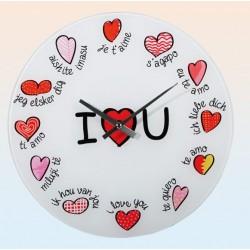Nástenné hodinky - Milujem ťa