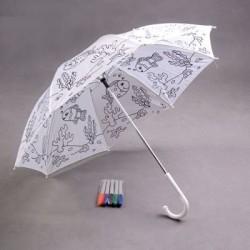 Dáždnik pre deti omaľovánka