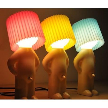 Vtipná lampa - Mr. P lamp - žltá