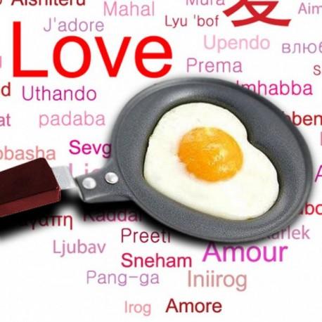 Panvička v tvare srdca - 12 cm