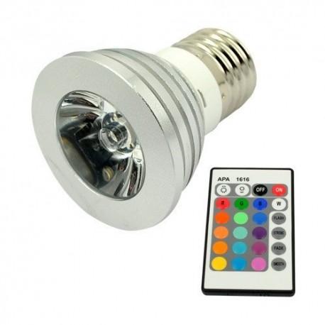 Multifarebná LED žiarovka s diaľkovým ovládačom
