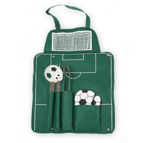 Futbalová grilovacia sada - zelená