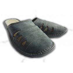 Pánske kožené papuče - modré ( P0015 )