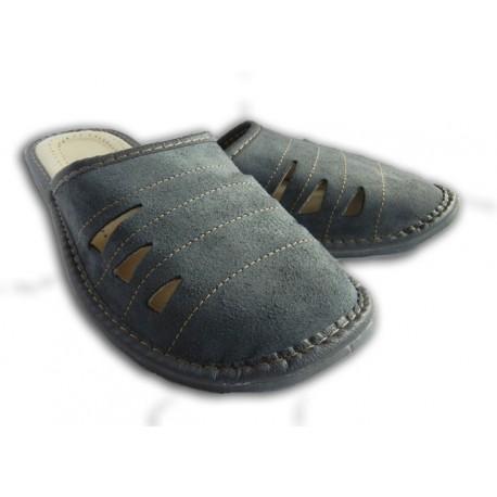 Pánske kožené papuče - modré ( P0015 ) 44