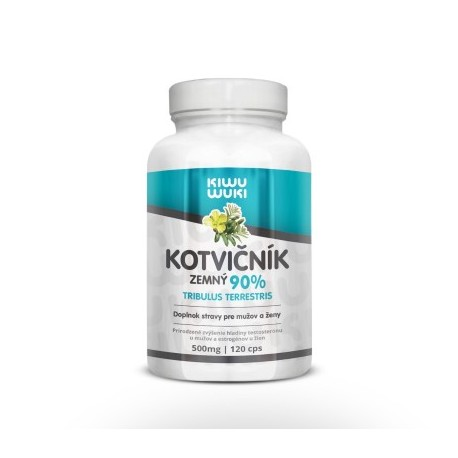 KIWU WUKI Kotvičník zemný | Tribulus Terrestris | tabletky 120 cps | 90% extrakt | doplnok stravy