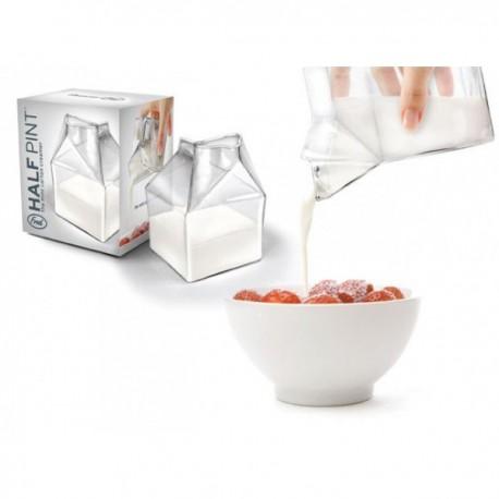 Sklenená krabica na mlieko