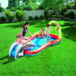 Detský nafukovací bazénik na vodu so šmýkačkou a sprchou