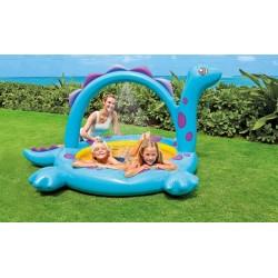 57437 Nafukovací bazén Dinosaurus so sprchou 229x165x117 cm
