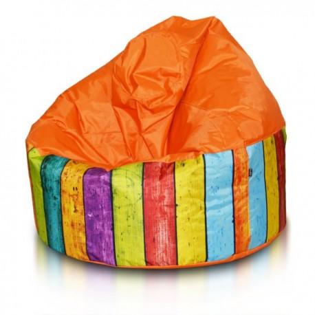 Ecopuf Sedací vak ECOPUF - VIPER MODERN polyester E4 - Oranžová