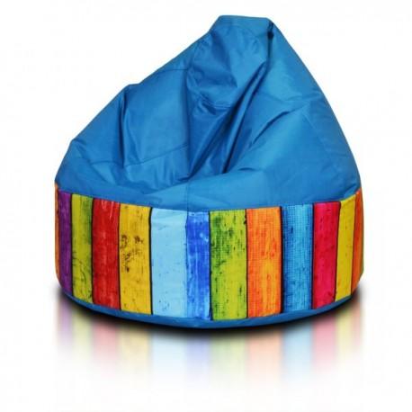 Ecopuf Sedací vak ECOPUF - VIPER MODERN polyester E10 - Modrá