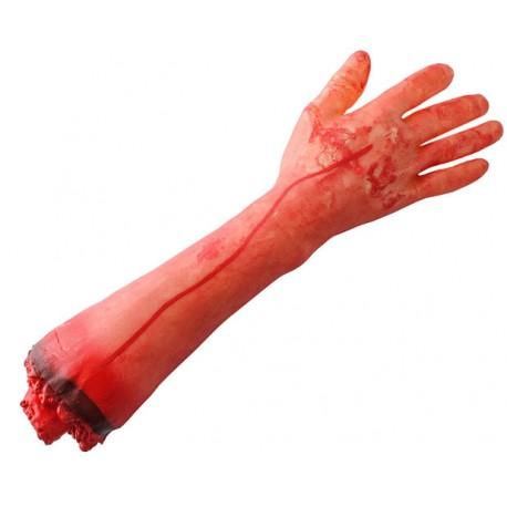 Odrezaná ľudská ruka Halloween - dekorácia