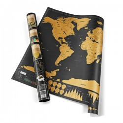 Stieracia mapa sveta DELUXE 83x60cm