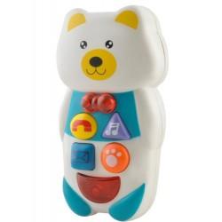 Detský interaktívny telefón - macko
