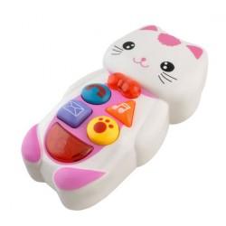 Detský interaktívny telefón - mačička