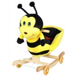 Plyšová hojdačka s kolieskami 2v1 - včielka