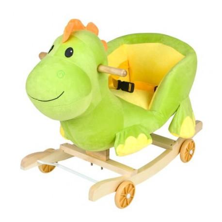 Detská hojdačka s kolieskami - dinosaurus