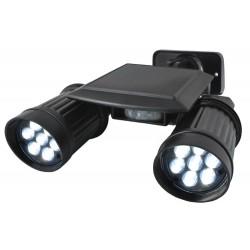 Záhradný solárny 14 LED reflektor duo