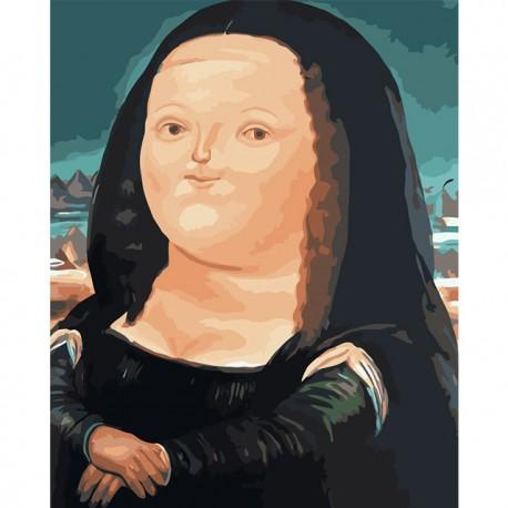 Tučná Mona Lisa - set na maľovanie