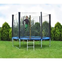 Záhradná trampolína 183 cm, modrá + ochranná sieť + rebrík
