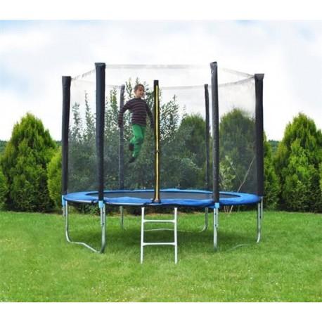 Malatec 2215 Zahradní trampolína 183 cm, modrá + ochranná síť + žebřík