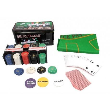 0600 Texas Hold'em Poker set - 200ks žetónov Nový kus
