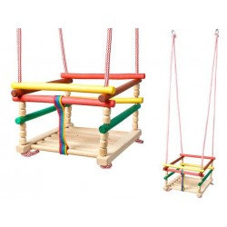 Detská drevená hojdačka 33x33