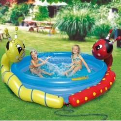 Detský bazén veselé dážďovky so sprchou 175x33cm