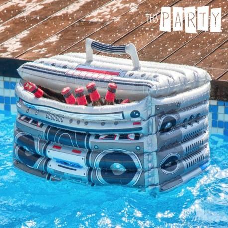 Nafukovací chladiaci box retro rádio
