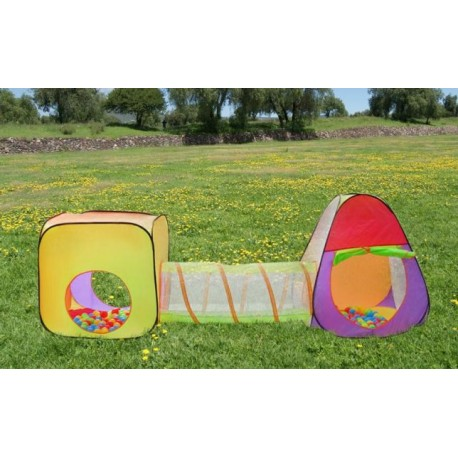 Detský stan a hrací domček s tunelom vrátane 200 loptičiek