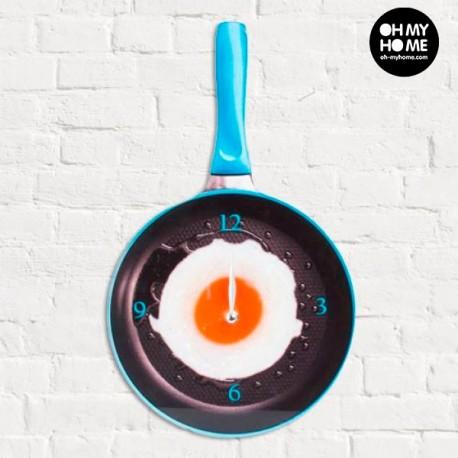 Nástenné hodiny panvica s volským okom Modrá