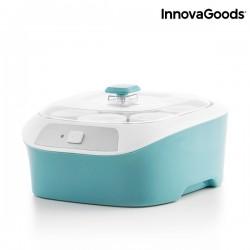 Retro jogurtovač so 6 pohármi InnovaGoods 1 L 20W tyrkysovo biely