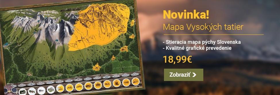 Stieracia mapa Vysoké Tatry - Deluxe XL