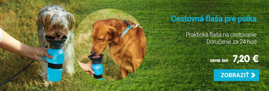 Cestovná fľaša na vodu pre psov